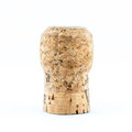Wine cork on white background for stopper of champagne Stock Photo
