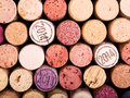 Wine corks as background Royalty Free Stock Photo