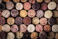 Wine corks background close-up Royalty Free Stock Photo