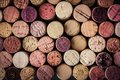 Wine corks background horizontal Royalty Free Stock Photo