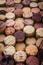 Wine corks background vertical Royalty Free Stock Photo