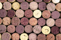 Wine corks on black background Stock Photography