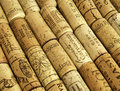 Wine corks brown old background Royalty Free Stock Images