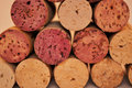 Wine corks closeup Stock Photo