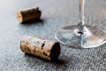 Wine Corks with glass Royalty Free Stock Photo