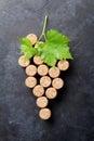 Wine corks grape shape Royalty Free Stock Photo