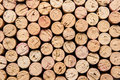 Wine corks stacked up nice and neatly Royalty Free Stock Photos