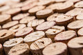 Wine corks stacked up nice and neatly with a shallow depth of field Stock Photography