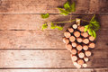 Wine corks on table Royalty Free Stock Photo
