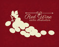 Wine design over redwine background vector illustration Stock Photo