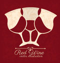 Wine design over redwine background vector illustration Stock Photos