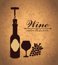 Wine design over vintage background vector illustration Stock Image
