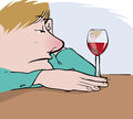 Wine drinker Royalty Free Stock Photo