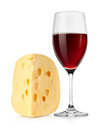Wine and dutch cheese Stock Photography