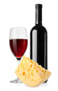 Wine and dutch cheese  Royalty Free Stock Photos
