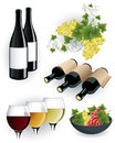 Wine elements Stock Photos