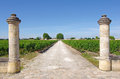 Wine estate medoc bordeaux france welcome to a famous of Royalty Free Stock Photo