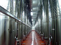 Wine fermentaion tanks Stock Photo