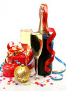 Wine and gifts Royalty Free Stock Images