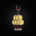Wine glass cellar barrel design background Royalty Free Stock Image