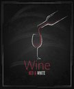 Wine glass chalkboard menu background Stock Photos