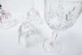 Wine glass compose art background Stock Images