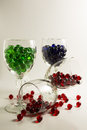 Wine Glass Marbles Royalty Free Stock Photography