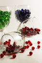 Wine Glass Marbles Royalty Free Stock Photo