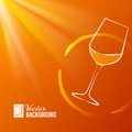 Wine glass over shine backdrop vector illustration Royalty Free Stock Photography