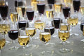 Wine by the glass Royalty Free Stock Photo