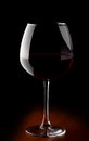 Wine glass with red wine isolated Royalty Free Stock Image