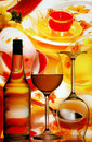 Wine glasses background Stock Image
