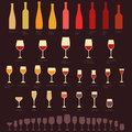 Wine glasses and bottle Royalty Free Stock Photo