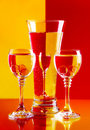 Wine-glasses com água Fotografia de Stock Royalty Free