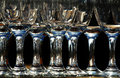 Wine glasses in a glitzy party Royalty Free Stock Image