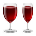 Wine glasses two of red illustration for creative design Stock Image