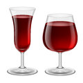 Wine glasses two of red illustration for design Stock Photos
