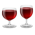 Wine glasses two of red illustration on white background Stock Photography