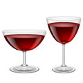 Wine glasses two of red illustration on white for creative design Royalty Free Stock Image