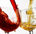Wine glasses various on the isolated background Royalty Free Stock Photo