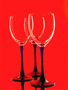 Wine glassware abstract background design made from wine glasses Stock Images