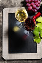 Wine and grape background with space for text Royalty Free Stock Images