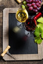 Wine and grape background with space for text Stock Image