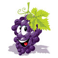 Wine grape cartoon Stock Images