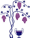 Wine and grape tree Royalty Free Stock Photography