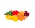 Wine gum per colour Royalty Free Stock Photo