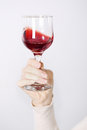 Wine in hand Royalty Free Stock Photo