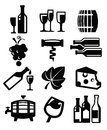 Wine icon Royalty Free Stock Images