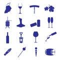 Wine icon set eps10 Royalty Free Stock Photo