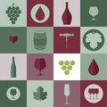 Wine. Icon set Royalty Free Stock Photo